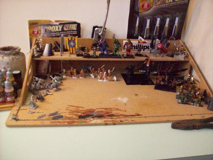 My cleared painting station.JPG